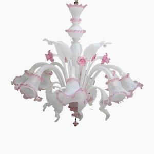 Venezianische Deckenlampe aus Glas von Maestri Muranesi, 1960er