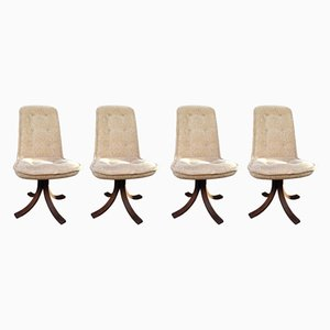 Swivel Chairs, 1970s, Set of 4