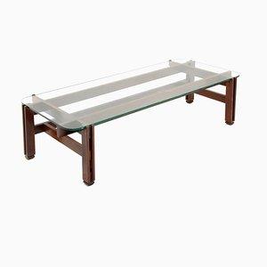 Table Basse Modèle 751 Mid-Century en Bois et Verre par Ico Parisi pour Cassina, 1960s