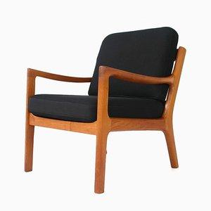 Dänischer Sessel mit Gestell aus Teak von Ole Wanscher für P.J. Jeppesen, 1950er