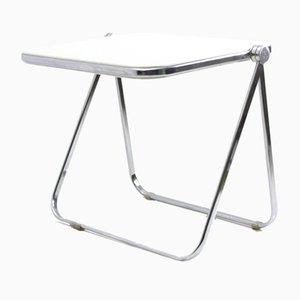 White Model Plato Folding Desk by Giancarlo Piretti for Castelli / Anonima Castelli, 1960s