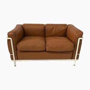 Mid-Century Model LC 2 Sofa from Cassina