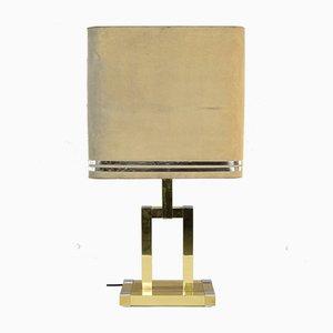 Goldene spanische Tischlampe von Willy Rizzo für Lumica, 1970er