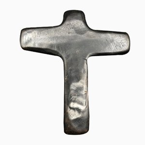 Carved Wooden Cross, 1950s