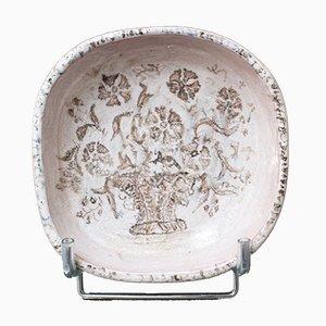 French Ceramic Bowl by Édouard Cazaux, 1930s