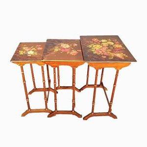 Tavolini ad incastro antichi dipinti a mano