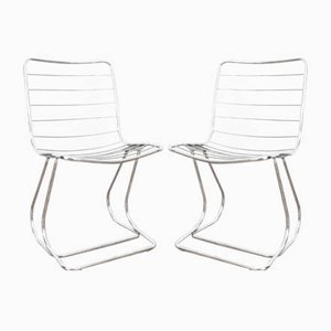 Mid-Century Italian Dining Chairs, 1970s, Set of 2