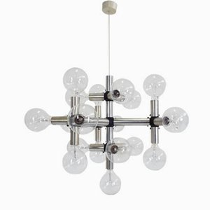 Mid-Century Chandelier by Robert Haussmann for Swiss Lamps International