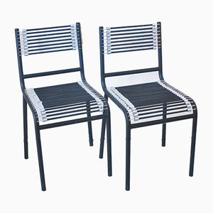 Model Sandow Dining Chairs by René Herbst for Ecart International, 1980s, Set of 2