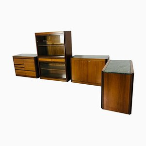 Marble Sideboards by Angelo Mangiarotti, 1970s, Set of 4