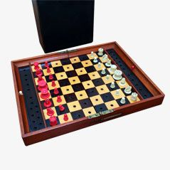 Antique In Statu Quo Travelling Chess Set from Jaques