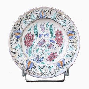 Dekorativer französischer Keramikteller von Édouard Cazaux, 1930er