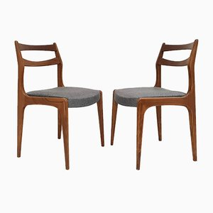 Vintage Scandinavian Teak Dining Chairs, 1960s, Set of 4