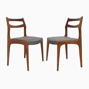 Vintage Scandinavian Teak Dining Chairs, 1960s, Set of 4