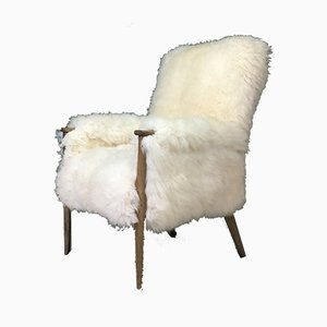 Vintage Sheepskin Armchair from Parker Knoll