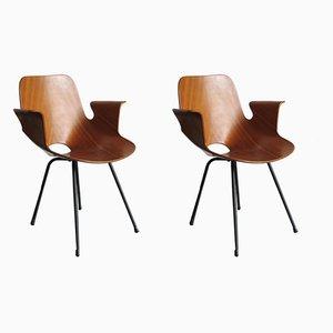 Esszimmerstühle aus Schichtholz von Vittorio Nobili für Fratelli Tagliabue, 1950er, 2er Set