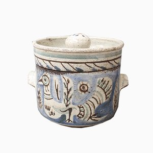 Vintage Ceramic Pot by Gustave Reynaud for Le Mûrier , 1950s