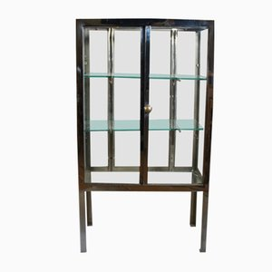 Vintage Steel and Glass Display Cabinet, 1930s