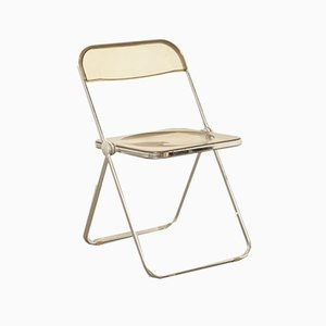 Smoked Acrylic Folding Chair by Giancarlo Piretti for Castelli / Anonima Castelli, 1960s
