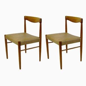 Sedie da pranzo moderne in teak di H. W. Klein per Bramin, Scandinavia, anni '60, set di 2