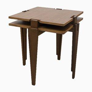 Tables d'Appoint en Contreplaqué par Angelo Ostuni pour Frangi, 1950s, Set de 2