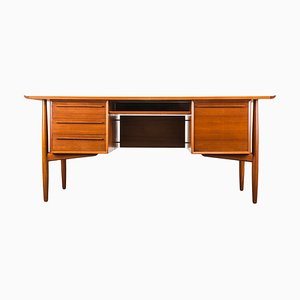 Teak Executive Desk by Arne Vodder, 1950s