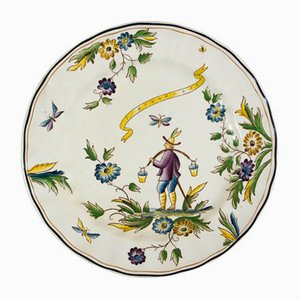 Porcelain Plate by Gio Ponti for Richard Ginori, 1930s