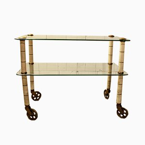 Italian Brass Trolley by Osvaldo Borsani for Atelier Borsani Varedo, 1940s