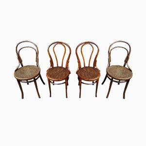Bistro Chairs, 1920s, Set of 4