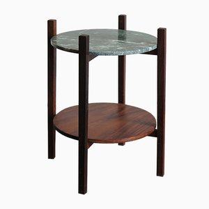 Table Basse Scandinave en Palissandre et Marbre, 1950s