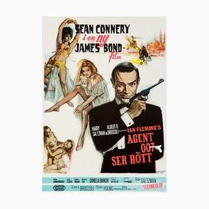 Póster de la película James Bond From Russia With Love vintage de Renato Fratini, 1964