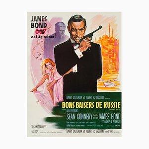 Póster de la película James Bond From Russia With Love vintage de Boris Grinsson, 1963