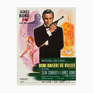 Vintage James Bond From Russia With Love Film Poster by Boris Grinsson, 1963