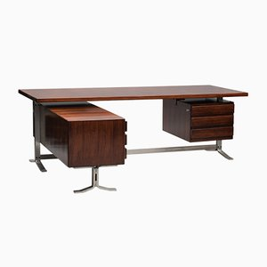 Vintage Rosewood Desk by Gianni Moscatelli for Formanova