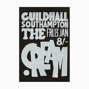 Poster vintage del concerto dei Cream, 1967