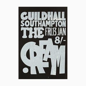 Vintage Cream Concert Poster, 1967