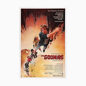 Vintage The Goonies FIlm Poster by Drew Struzan, 1980s