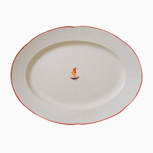 Large Ceramic Oval Plate by Gio Ponti for Richard Ginori, 1936