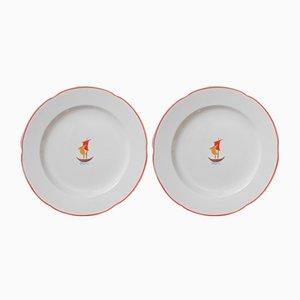 Beige Ceramic Plates by Gio Ponti for Richard Ginori, 1936, Set of 2