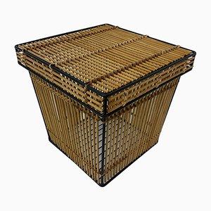 Vintage Rattan Basket, 1970s