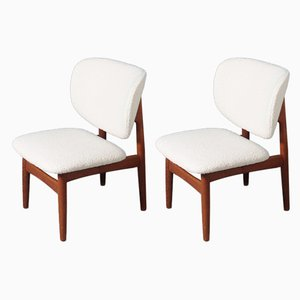 Mid-Century Danish Lounge Chairs by Kurt Østervig for Jason Møbler, 1960s, Set of 2