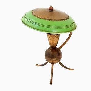 Lampe de Bureau Tripode Vintage en Laiton et Acier, 1950s