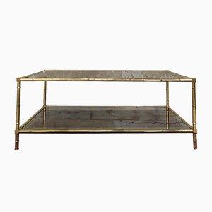 Tavolino da caffè Mid-Century in ottone