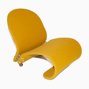 Poltrona gialla di Verner Panton per Fritz Hansen, anni '70
