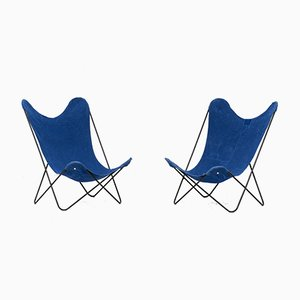 Model AA Butterfly Lounge Chairs by Jorge Ferrari-Hardoy for Airborne, 1960s, Set of 2