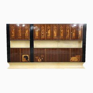 Mid-Century Italian Cabinet by Antonio Cassi Ramelli and L. Anzani, 1950s
