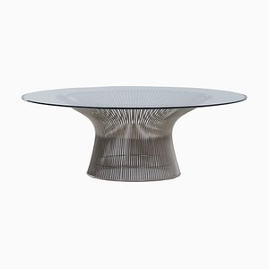 Glass Coffee Table by Warren Platner for Knoll Inc./Knoll International, 2000s