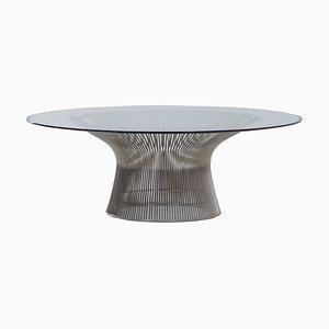 Table Basse en Verre par Warren Platner pour Knoll Inc./Knoll International, 2000s