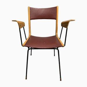 Italian Boomerang Desk Chair by Carlo Ratti, 1950s