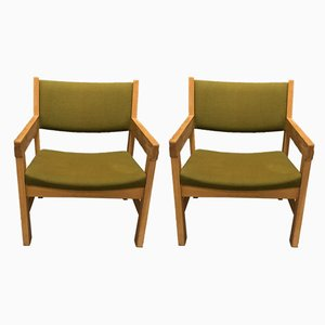 Vintage Armchairs by Hans J. Wegner for Getama, Set of 2